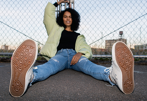 Woman wearing Prokeds shoes