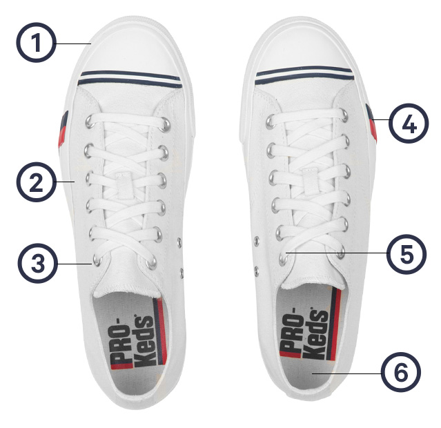 d85e764d909 PRO-Keds Canvas Low Top   High Top Sneakers